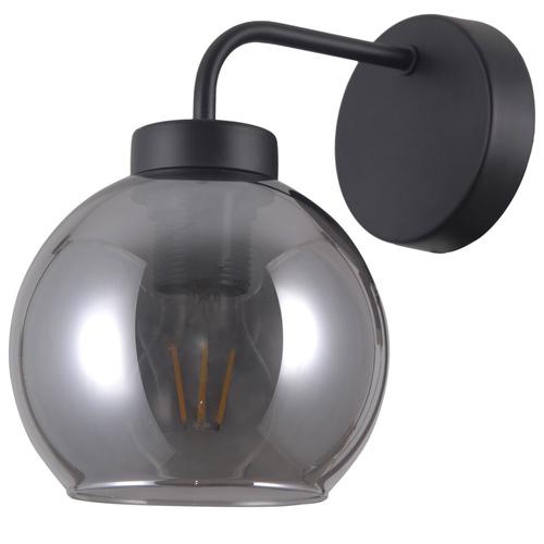 Černá skandinávská nástěnná lampa Poggi E27