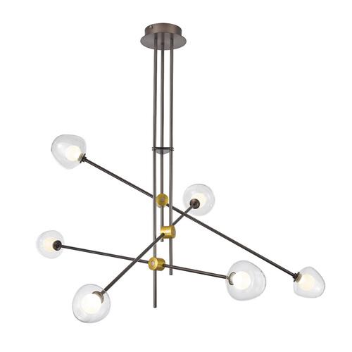 Bronzová romantická LED závěsná lampa