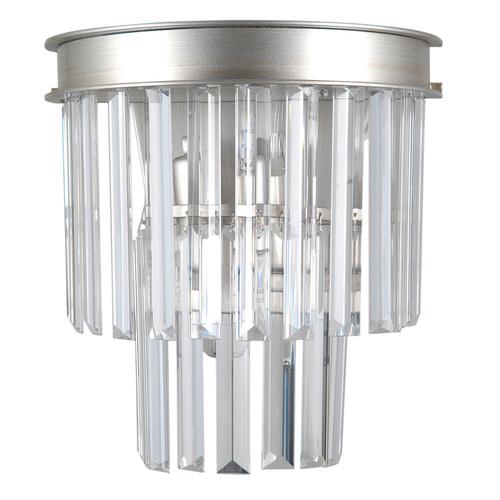 Stříbrná nástěnná lampa Verdes E14 2 žárovky