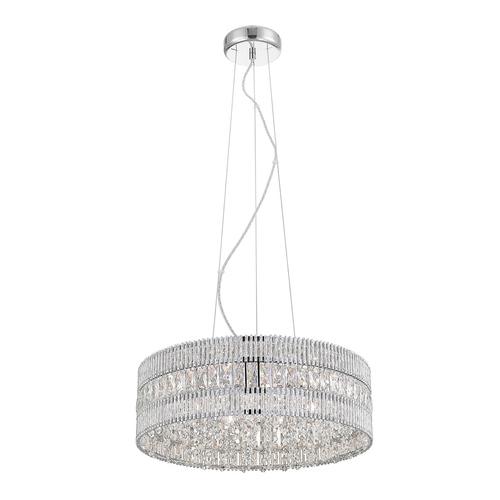 Stříbrná závěsná lampa Felicia G9, 6 žárovek