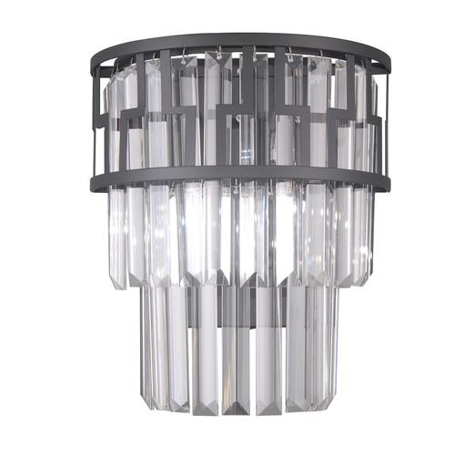 Černá moderní nástěnná lampa Filip E14 2-žárovka
