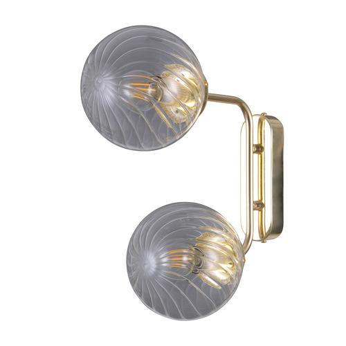 Zlatá moderní nástěnná lampa Bartolo E14 2 žárovky
