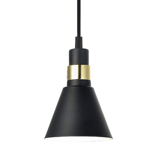 Černá závěsná lampa Biagio E14