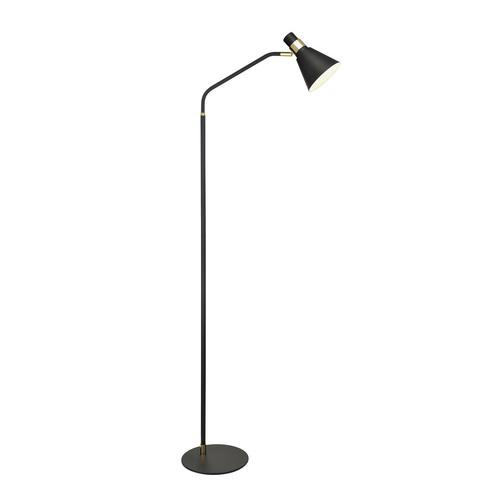 Černá stojací lampa Biagio E14