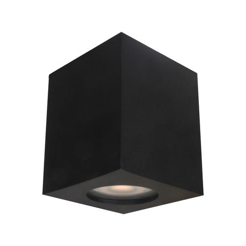 Černá povrchová lampa Fabrycio GU10