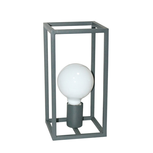 Šedá stolní lampa Sigalo E27