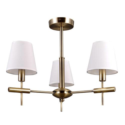 Stylizovaný zlatý lustr E14 Lustr 3 žárovka