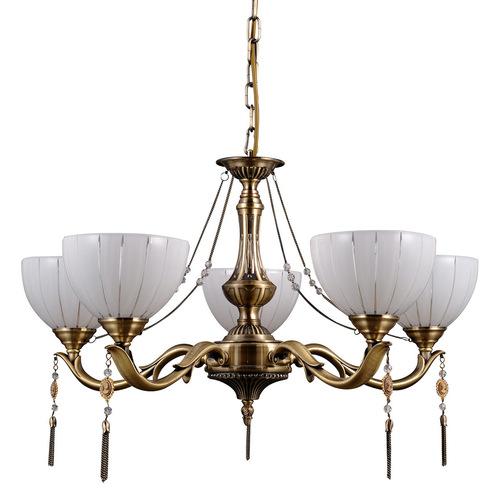 Zlatý lustr Baxio E27 s 5 žárovkami