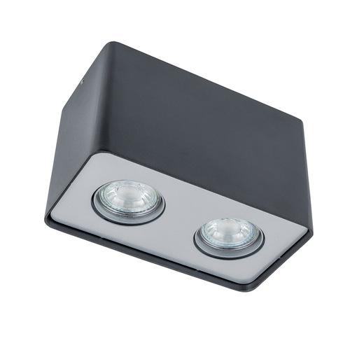 Moderní dvoužárovková Harris GU10 povrchová lampa