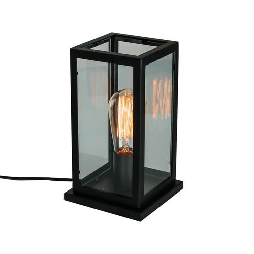 Černá stolní lampa Laverno E27