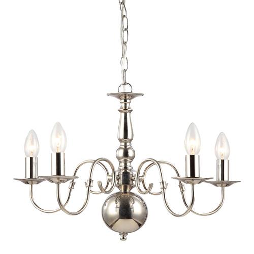Stylizovaný lustr Marion E14 s 5 žárovkami