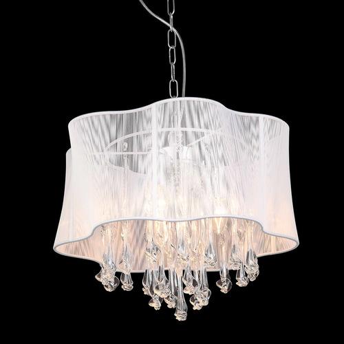 Cali E14 bílá závěsná lampa 3 žárovky