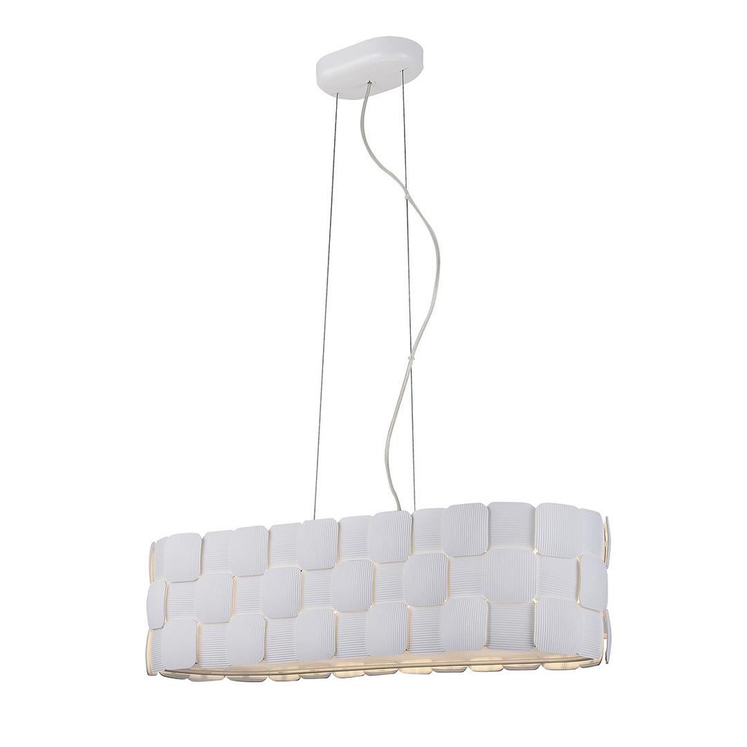 Bílá závěsná lampa Elisa E27 4 žárovky