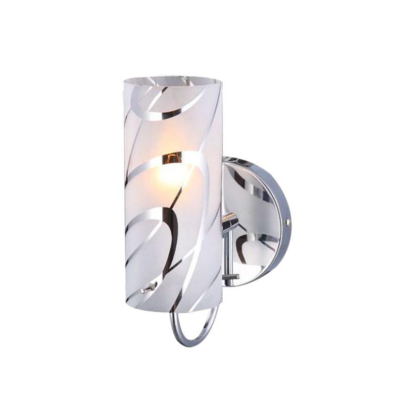 Moderní nástěnná lampa Halo E27
