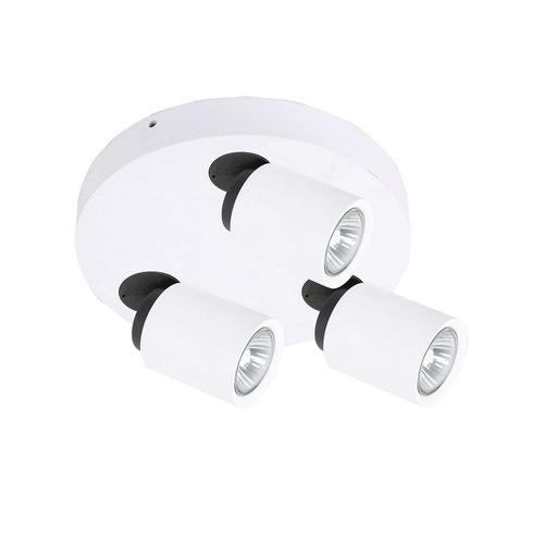 Bílý moderní reflektor Lucien GU10 3bodový