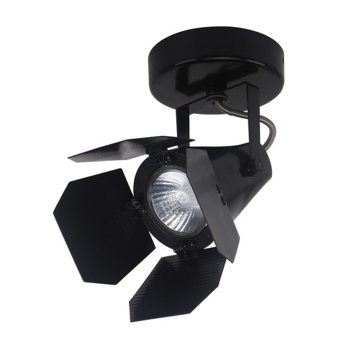 Moderní černý reflektor Milton GU10