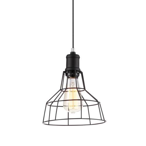 Černá závěsná lampa Synthia E27