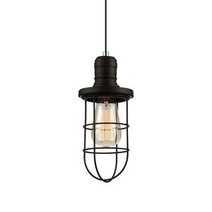 Černá závěsná lampa Synthia E27 small 0