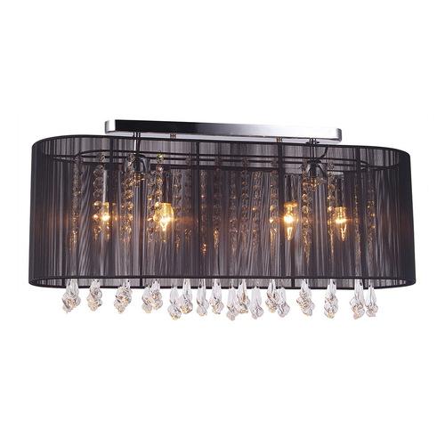 Černá 4bodová stropní lampa Isla E14