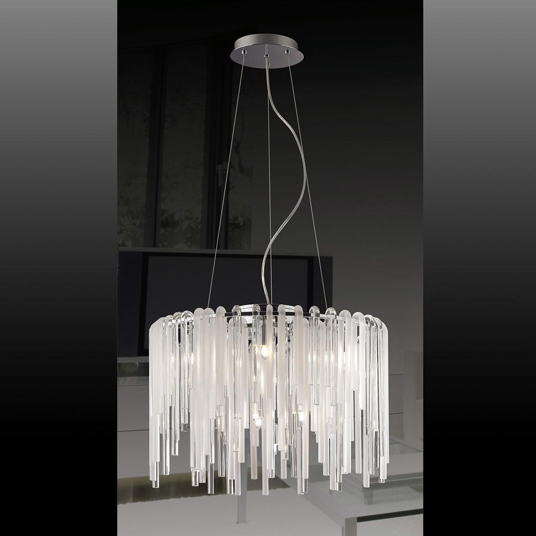 Klasická závěsná lampa Eon G9 s 10 žárovkami