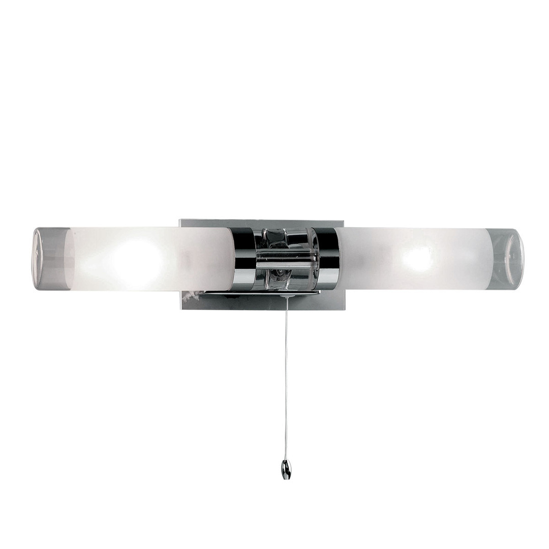 Moderní koupelnový nástěnný háček E14 2 žárovky