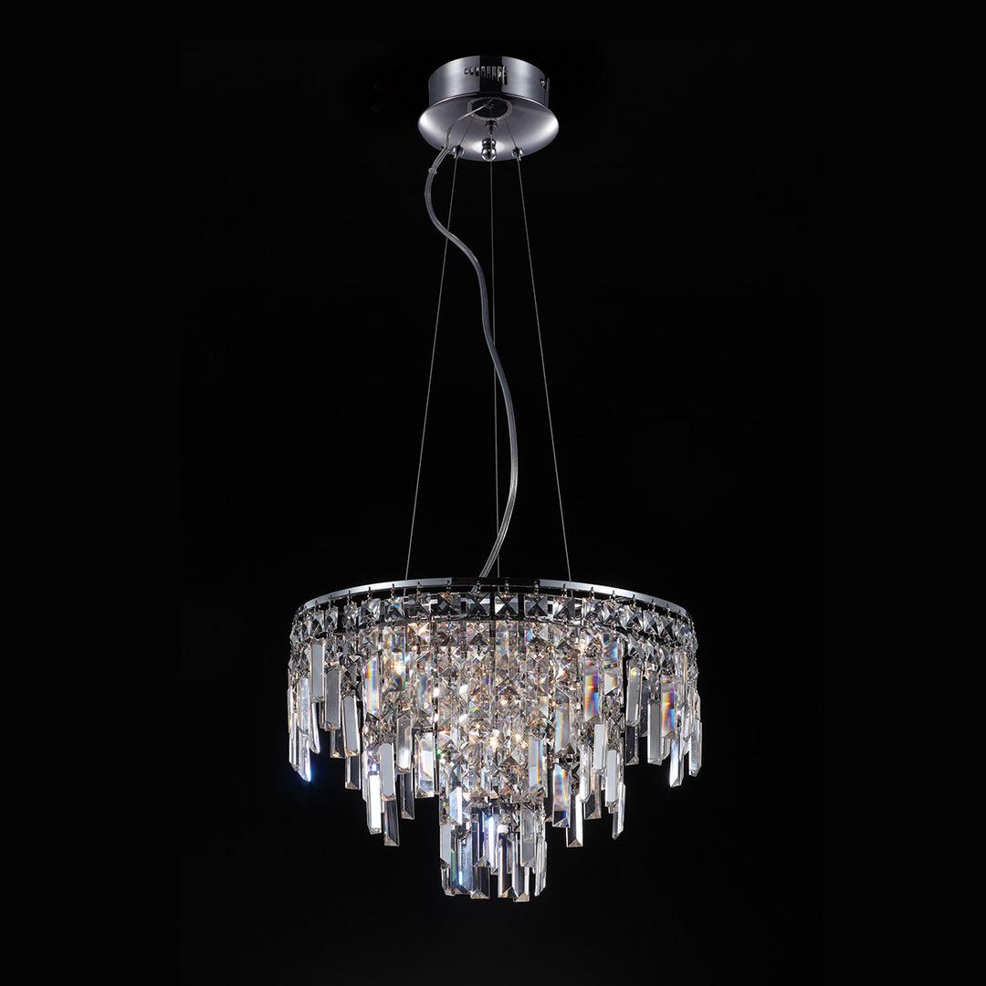 Klasická závěsná lampa s krystaly Lavenda G4 s 10 žárovkami