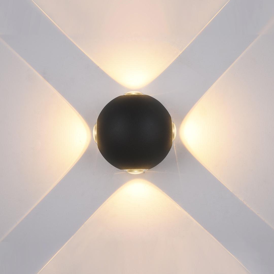 Moderní venkovní nástěnné svítidlo Trivento LED