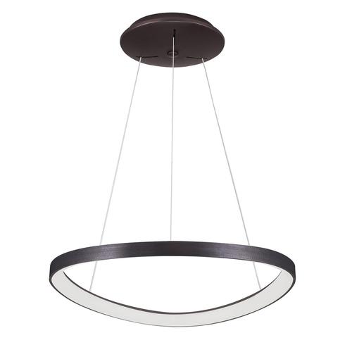 Hnědá závěsná lampa Morfi LED