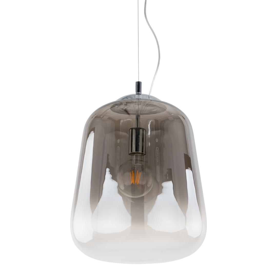 Kouřová závěsná lampa Lanila E27