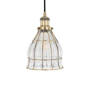Bronzová závěsná lampa Finter E27 small 2