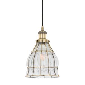 Bronzová závěsná lampa Finter E27 small 0