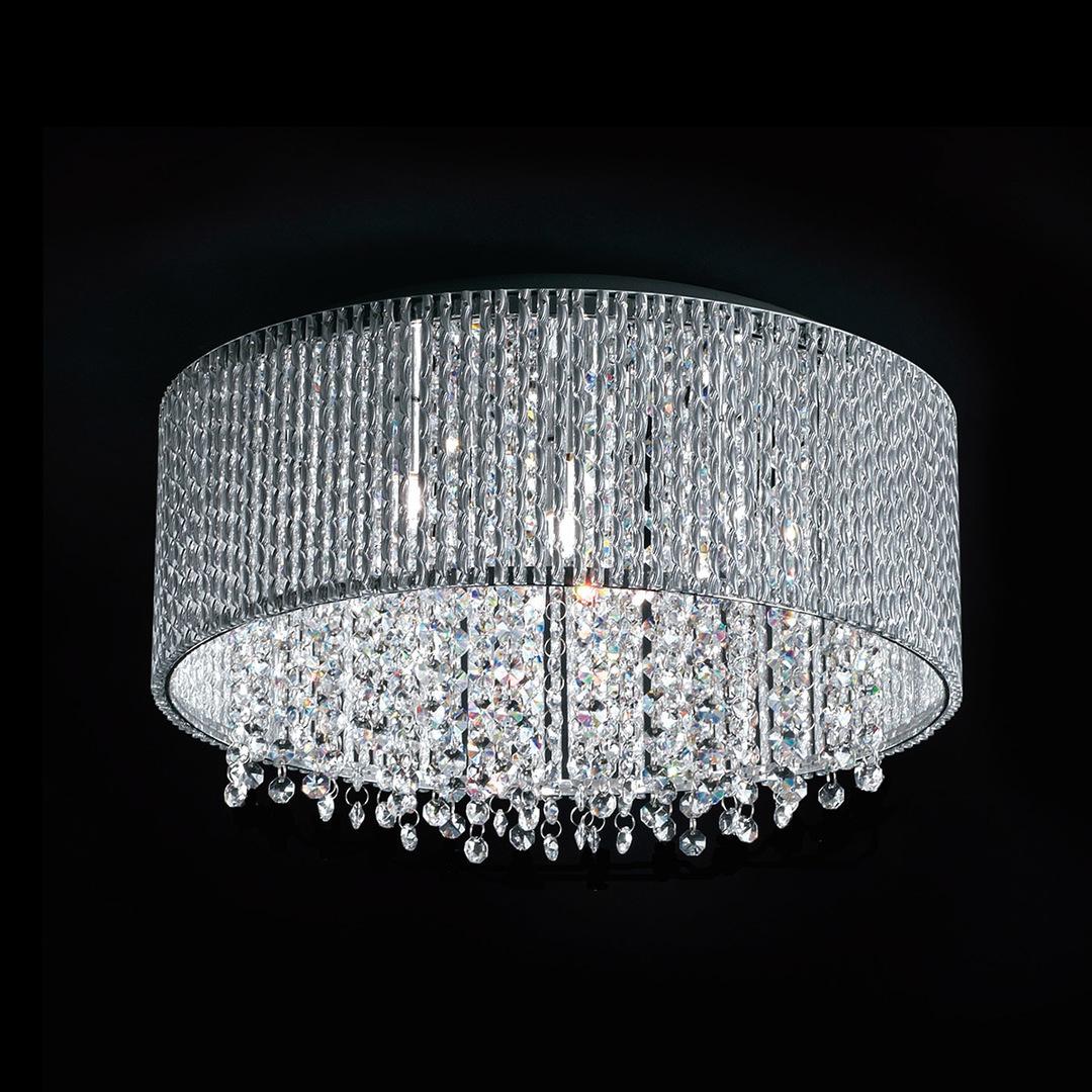 Moderní stříbrná 7bodová stropní lampa Anabella G9