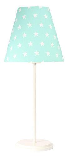 Mátová stolní lampa Ombrello 60W E27 50cm bílé hvězdy