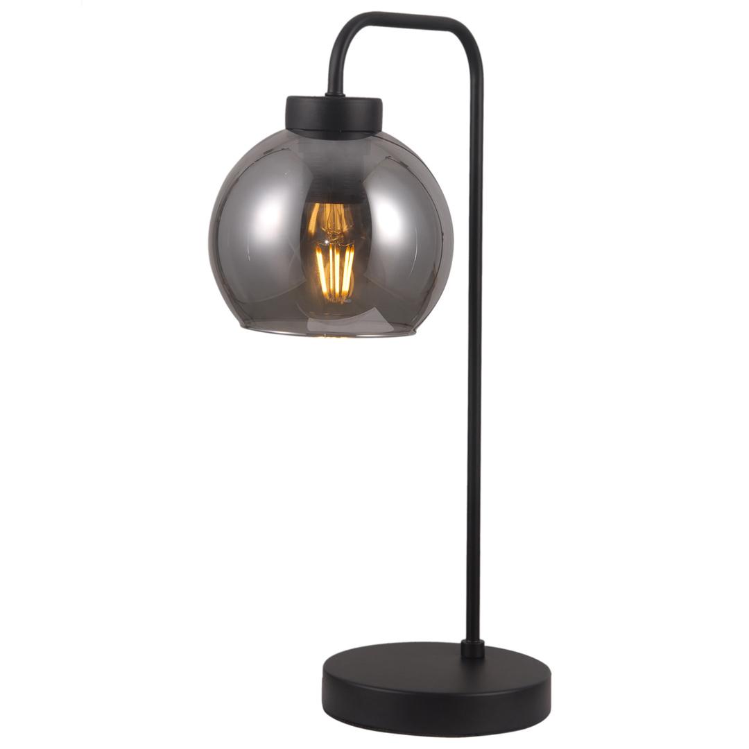 Černá stolní lampa Poggi E27