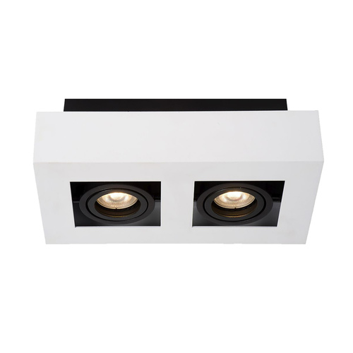 Bílá povrchová lampa Casemiro GU10 se 2 žárovkami