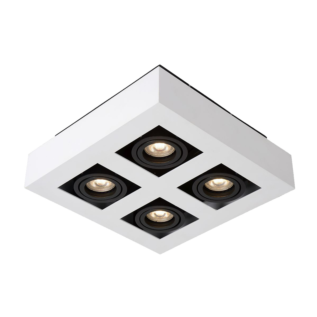 Bílá povrchová lampa Casemiro GU10 se 4 žárovkami