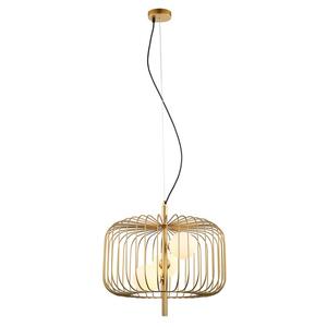 Zlatá závěsná lampa Daren G9, 3 žárovky small 1