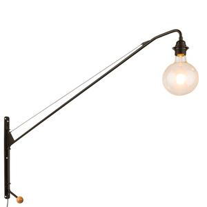 Černá nástěnná lampa Dexter E27 small 1