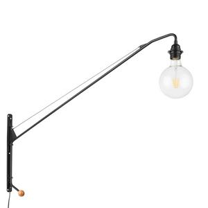 Černá nástěnná lampa Dexter E27 small 0