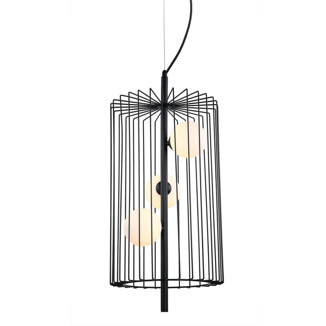 Černá závěsná lampa Hayden G9, 3 žárovky