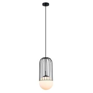 Černá matná závěsná lampa E27 small 1