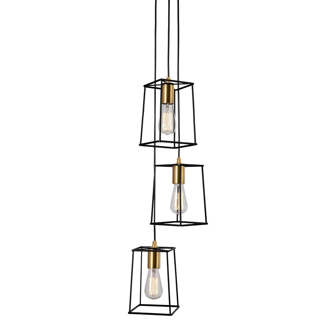 Moderní závěsná lampa Alanis E27 3 žárovky
