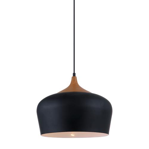 Černá závěsná lampa Britta E27