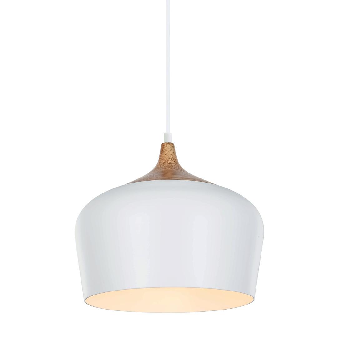 Bílé závěsné svítidlo Britta E27