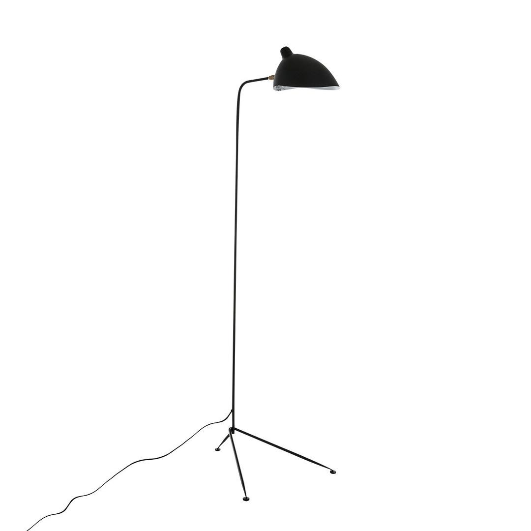 Černá stojací lampa Davis E27