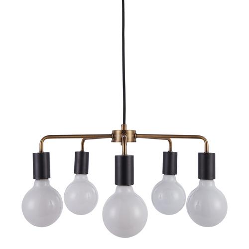 Černá závěsná lampa Irina E27, 5 žárovek