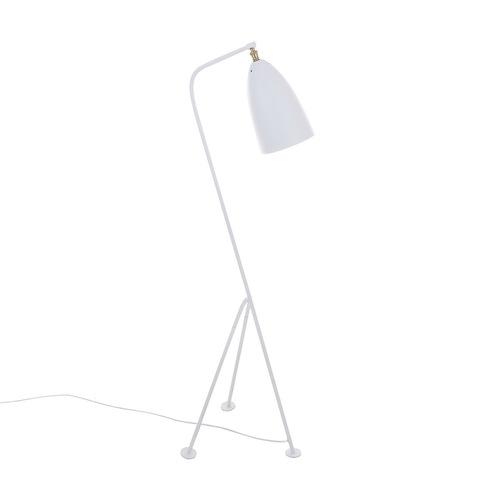 Bílá podlahová lampa Levigne E27