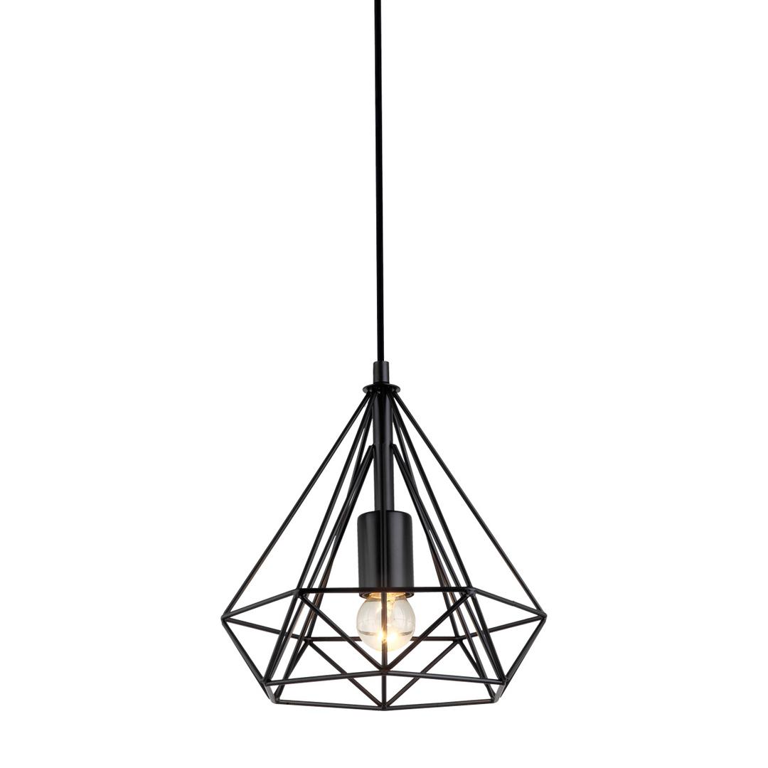 Černá závěsná lampa Natal E27