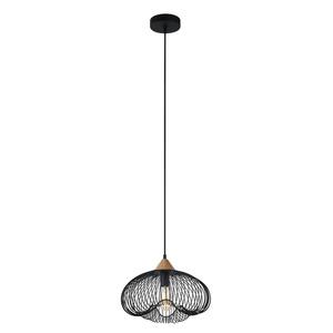 Černá závěsná lampa Nuka E27 small 1