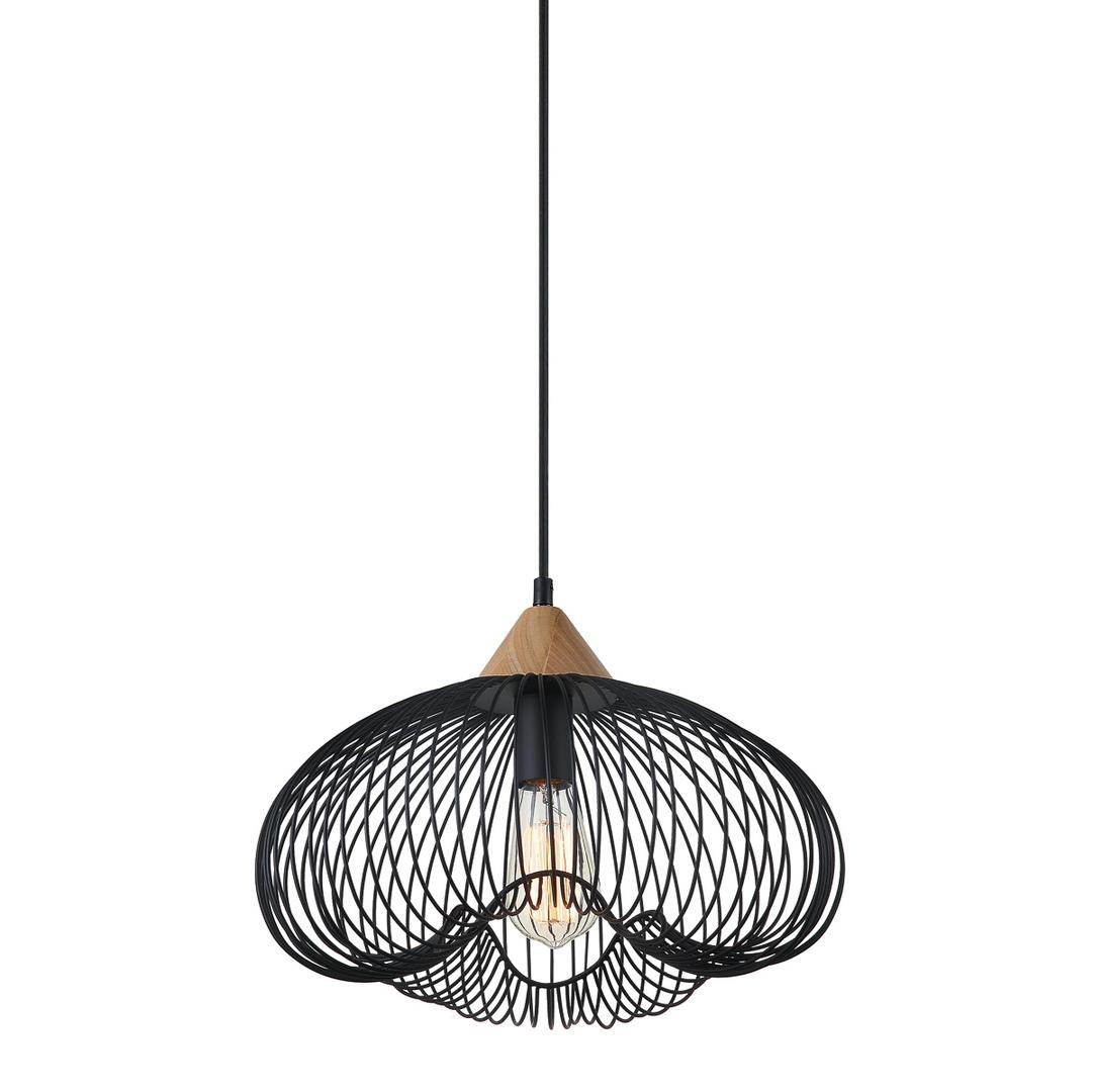 Černá závěsná lampa Nuka E27